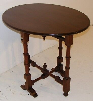 Good Quality Antique Very Unusual Mahogany Tip Up Folding Table 4