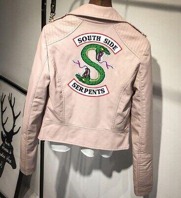 Hot-Cool+Girls/Southside Serpents Riverdale Damen-Lederjacke Jacken Mode^Mädchen 3