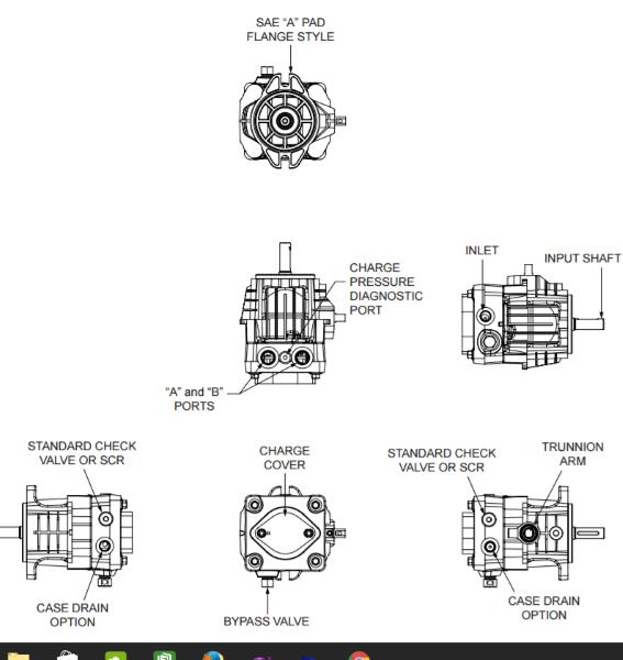 PUMP PG-1HCC-DY1X-XXXX/PE-1HCC-DY1X-XXXX HYDRO GEAR FOR TRANSAXLE OR  TRANSMISSIO
