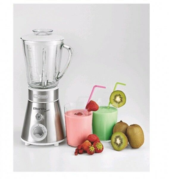Edelstahl Standmixer Smoothie Maker mit Glasbehälter Ariete-Italien 300 W