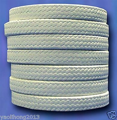US Stock 12 x 12 x 1000mm Teflon PTFE Square Braided Rope Gasket Gland Packing