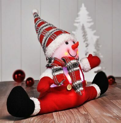 LED Schneemann Deko Figur Weihnachten Beleuchtung Bunt Farbwechsel