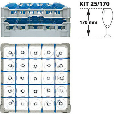 Gläserkorb KIT 25//230 50x50 25 Fächern Glasspülkorb Gläserfachkorb Fächerkorb