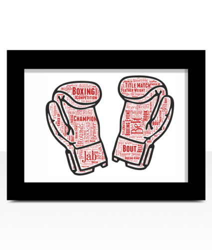Boxing Gloves Word ArtPersonalised Boxer GiftGreat Custom Gift For A Boxer
