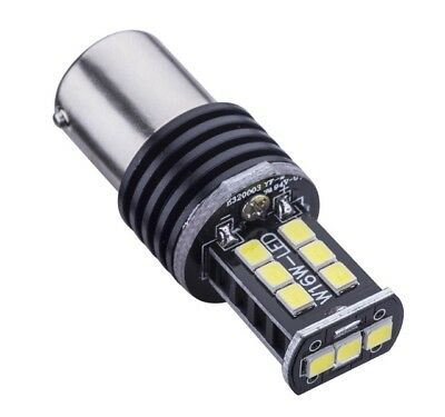 2 Bombillas  P21W De Led Can Bus  1156, Ba15S Color Blanco, 15 Led Smd 800Lm Drl