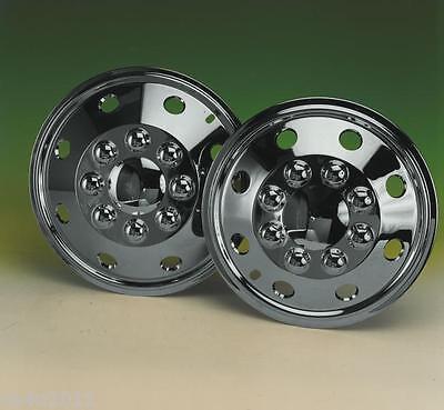 "Fiat Ducato Motorhome 15"" Chrome Van Wheel Trims- American Style - Hub Caps X 4 4"