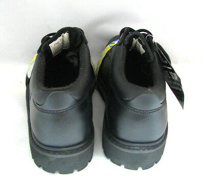 """New Men/'s Steel Toe Work Boots 4/"""" Black Leather Oxford Oil Resistant Shoes Sizes"""
