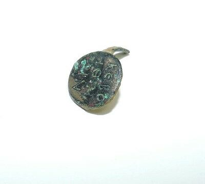 """Rare Ancient Bronze Ring Amulet """"May The Lord Help Marin"""" 4th - 7th Century 2"""