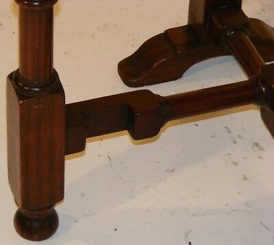Good Quality Antique Very Unusual Mahogany Tip Up Folding Table 8