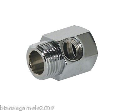 "1/2"" Wasseranschluss Adapter + Absperrhahn Kugelventil Küchenfilter Wasserfilter 3"