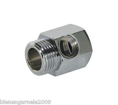 """Wasseranschluss Adapter + Absperrhahn 3/8"""" Osmoseanlage Wasserfilter Kugelventil 3"""