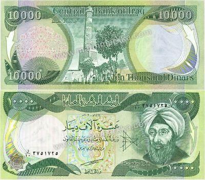 100,000 IRAQI DINAR CIRCULATED CURRENCY 10 x 10,000 10000 IQD 2