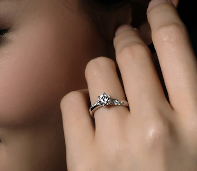 Womens Delicate 3/4 CT Promise Engagement RING For Her Silver Plated SIZE 4-10 2