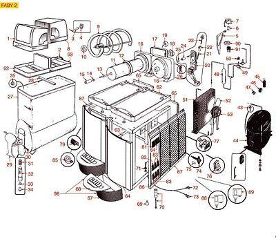 Ausgabehebel Zapfhebel CAB FABY Simonelli Monster Slush-Eis-Maschinen Ersatzteil 2