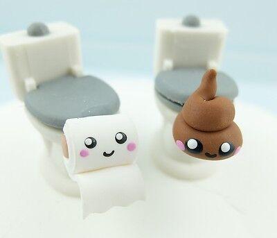 Klopapier Ohrringe Paar WC Lustige Toilettenpapier Hamsterkäufe 925er Silber 3