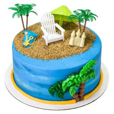 Prime 1 Beach Chair Umbrella Palm Tree Decoset Luau Birthday Cake Birthday Cards Printable Trancafe Filternl