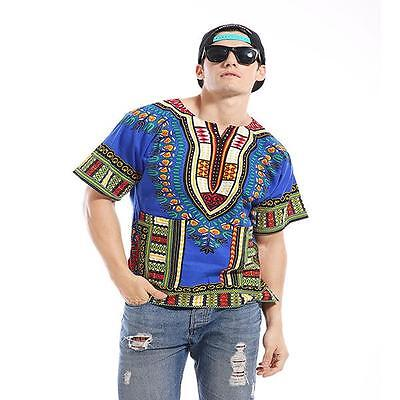 Dashiki Africano Festival Hippie Poncho Messicano Maglietta Kaftano T-Shirt 2