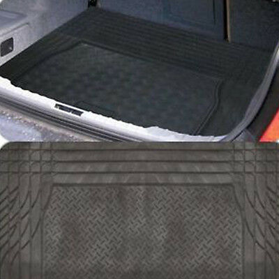 HEAVY DUTY RUBBER CAR BOOT LINER MAT UNIVERSAL CUT TO FIT NON SLIP PROTECTOR DOG