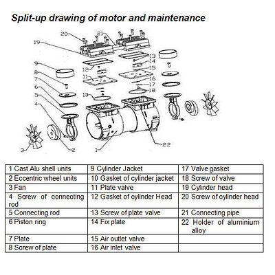 310L/min Dental Noiseless Oilless Air Compressor GA-82 60L 1-Driving-4 Stable CE 2