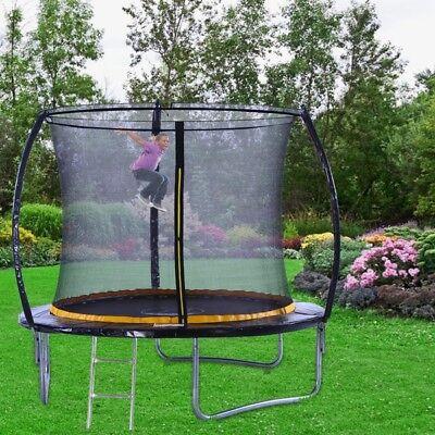 KANGA 8ft Premium Trampoline With Enclosure, Safety Net, Ladder & Anchor Kit 4