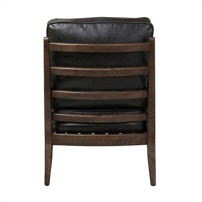 Murphy Lounge Chair in Black Leather Mid-Century Retro Modern Chair Art Deco 3