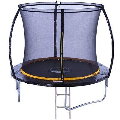 KANGA 8ft Premium Trampoline With Enclosure, Safety Net, Ladder & Anchor Kit 2