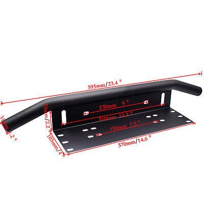Black Duty Offroad Bumper License Plate Mounting Bracket LED Fog Light Holder