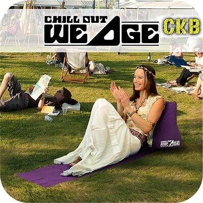Chill Wedge Inflatable Beach Chair Festival Camping Lounger Pillows Cushion R6A7
