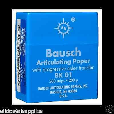 ... Dental Bausch Articulating Paper Double Sided Blue BK 01 300 Strips 200 Microns 2