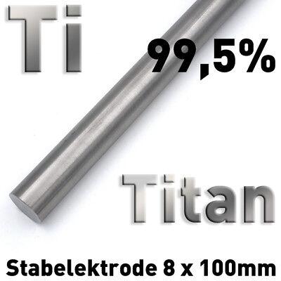 Refraktärmetalle Rund Stab 8 x 100 mm Element Probe Anode Elektrode 6