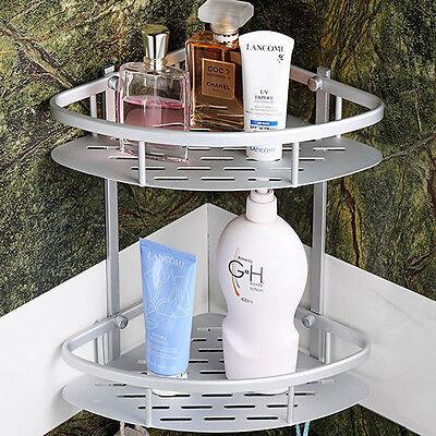 TRIANGULAR SHOWER CADDY Shelf Bathroom Corner Bath Rack Storage ...