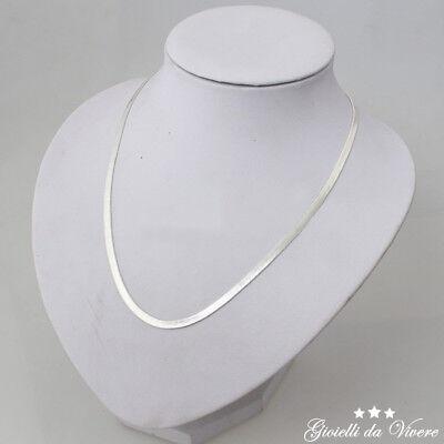 girocollo brillante Collana Bellissima Argento bianchi uomo unisex donna fh 9