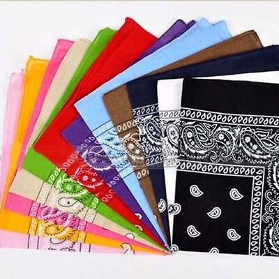 55*55cm Square Paisley Scarf Bandana Cotton Head Wrap Wristband Handkerchief 2