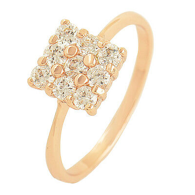 9K Rose Gold Filled Flawless Cubic Zirconia Ring,Size 6,7,8,9 Free Shipping 2