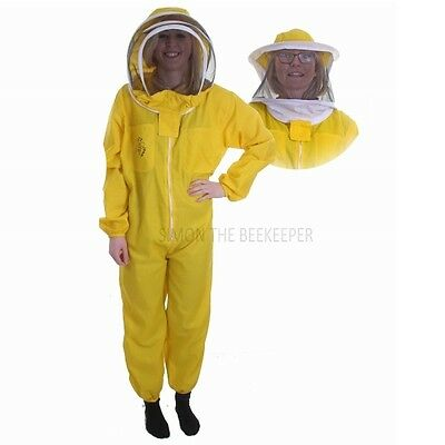 Buzz Basic Beekeepers Suit With Round Veil, Fencing Veil And Gloves - Yellow 2