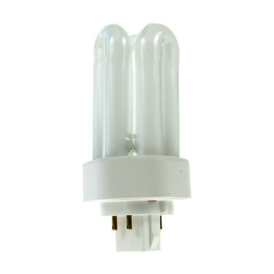 3x 13W GX24Q-1 4 Pin CFL PL-T Double Turn Light Bulb 4000k Cool White Lamp
