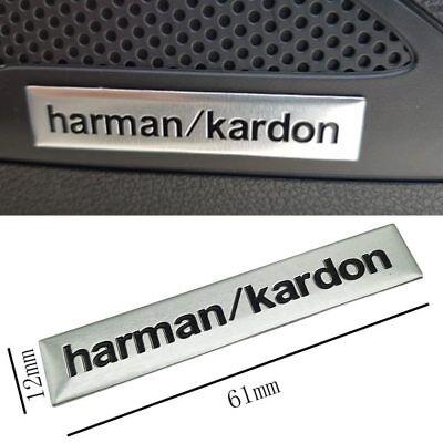 4 x LOGO 3D INSIGNIA PEGATINA Adhesivo  Aluminio Harman/Kardon  para Altavoz 3