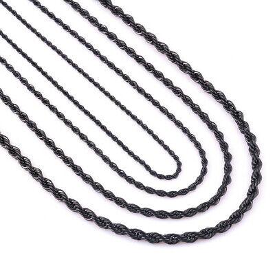 Kordelkette Armband Edelstahl Silber Gold Schwarz für Anhänger Halskette Unisex 5