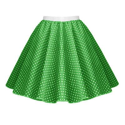 GIRLS CHILD 1950s Rock n Roll Polka Dot Dance Skirt Fancy Dress GREASE Costume 5
