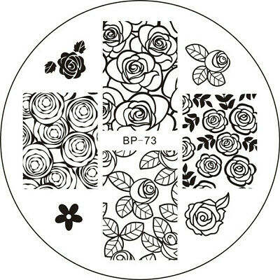 BORN PRETTY Nail Art Stamping Stamper Raschietto Piastra Plate Immagine 4
