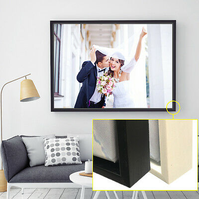 Personalised Photo on Canvas Print with Wooden Floating Frame A1 A2 A3 A4 3
