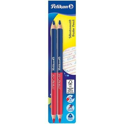 5 Pelikan Lehrerbuntstifte Jumbo // Dick Silbentrennstift Silbenstift blau//rot