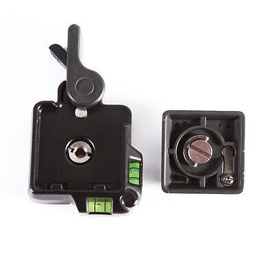 Clamp & Quick Release QR Plate For Tripod Monopod Ball Head Benro DSLR Camera 4