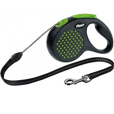 Flexi Reflective Retractable Design Dog Lead Tape / Cord 8-50KGS Extending Leash 8