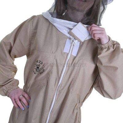 Buzz Basic Beekeeping Suit With Fencing Veil, Spare Round Veil And Gloves -Khaki 6