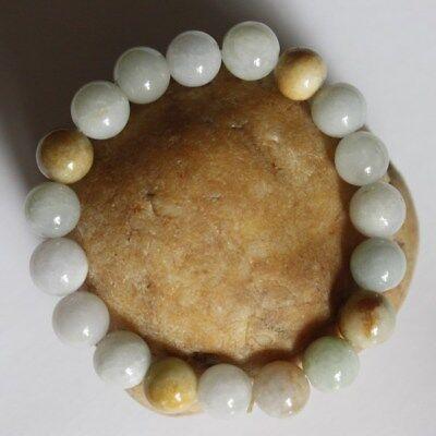 Gemstone 100% Natural Grade A JADE Jadeite Untreated Multi-Color Beads Bracelet 2