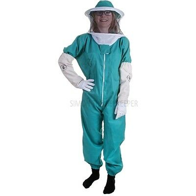Buzz Basic Beekeepers Green Bee Suit With Round Veil And Gloves - All sizes 2