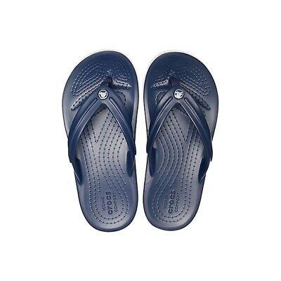 Crocs 205778 CROCBAND FLIP Kids Girls Boys Flip Flops Toe Post Sandals Navy 4