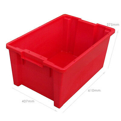 5 x 180º Plastic Stacking and Nesting Containers 50 Litre - Coloured 2