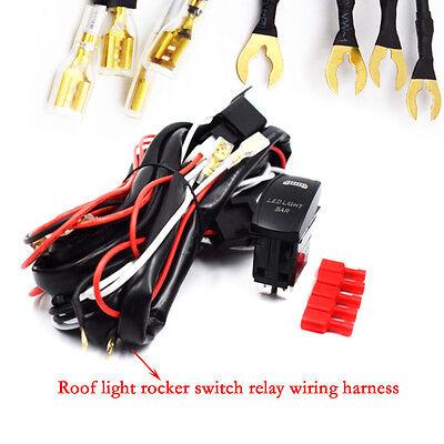 DC 12V WIRING Harness Rocker Switch LED Light Bar UTV Polaris XP 900 Dc Wiring Harness Led on